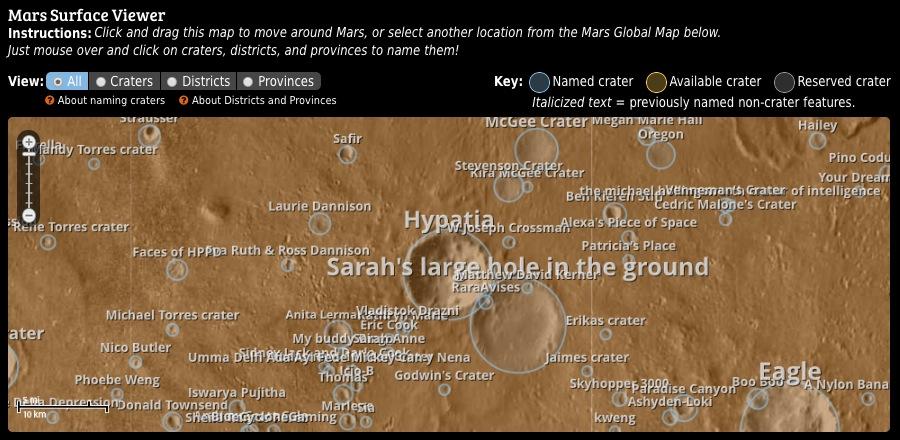 Uwingu Mars Map
