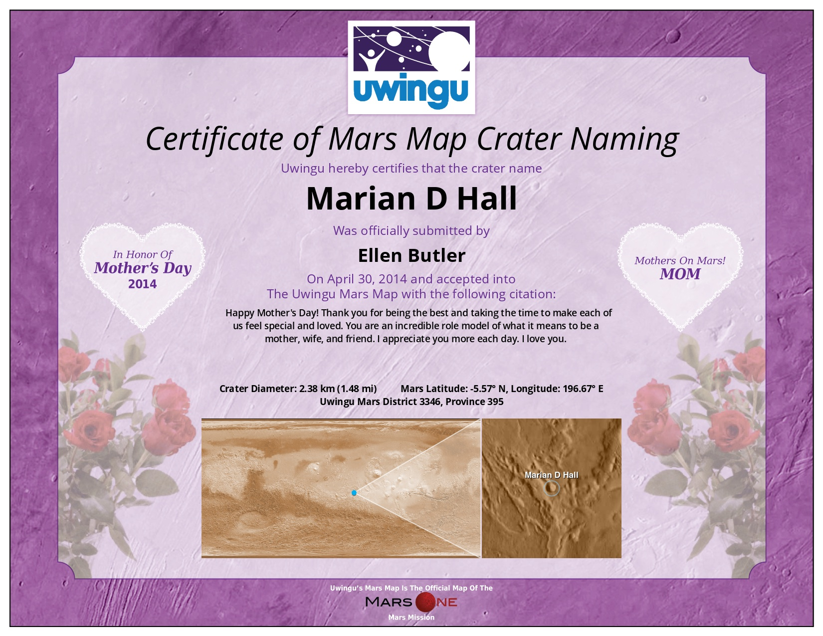 world s first mother s day gifts available on mars from uwingu