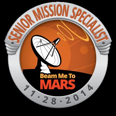 Beam Me To Mars Senior Mission Specialist
