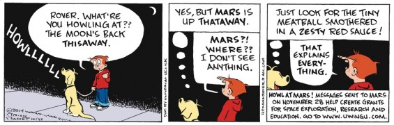 Red and rover howl at mars