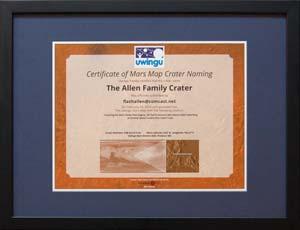 Uwingu Framed Certificate 2