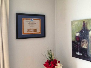 Printed Framed Certificate
