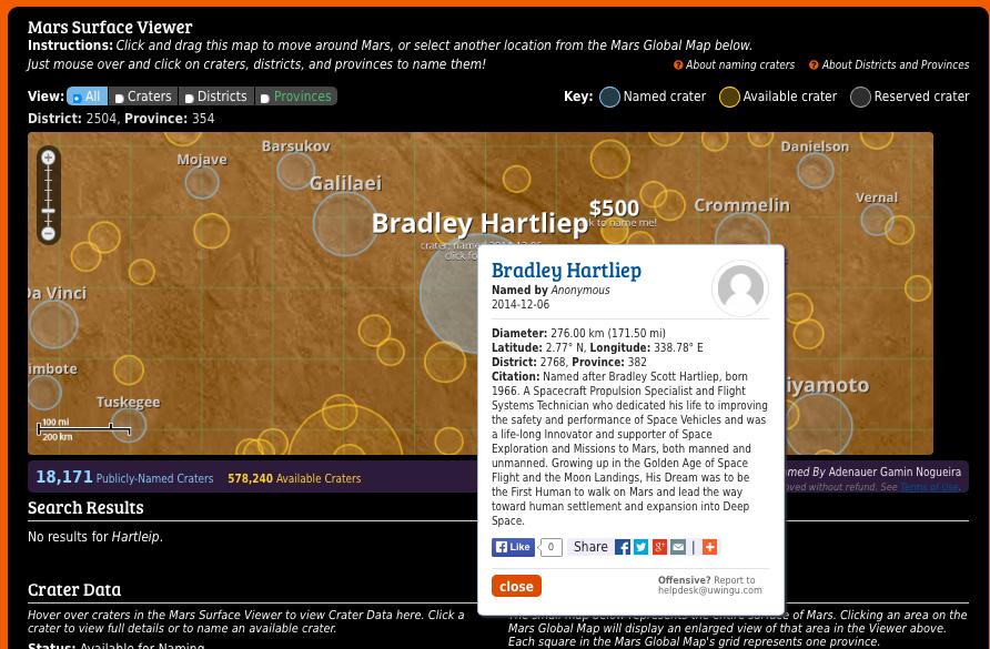 Bradley Hartleip Crater