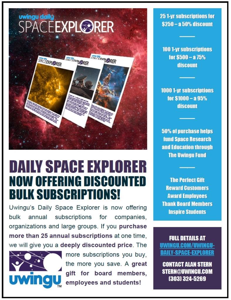 Uwingu Daily Space Explorer Bulk Subscriptions