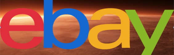 eBay Logo with Mars