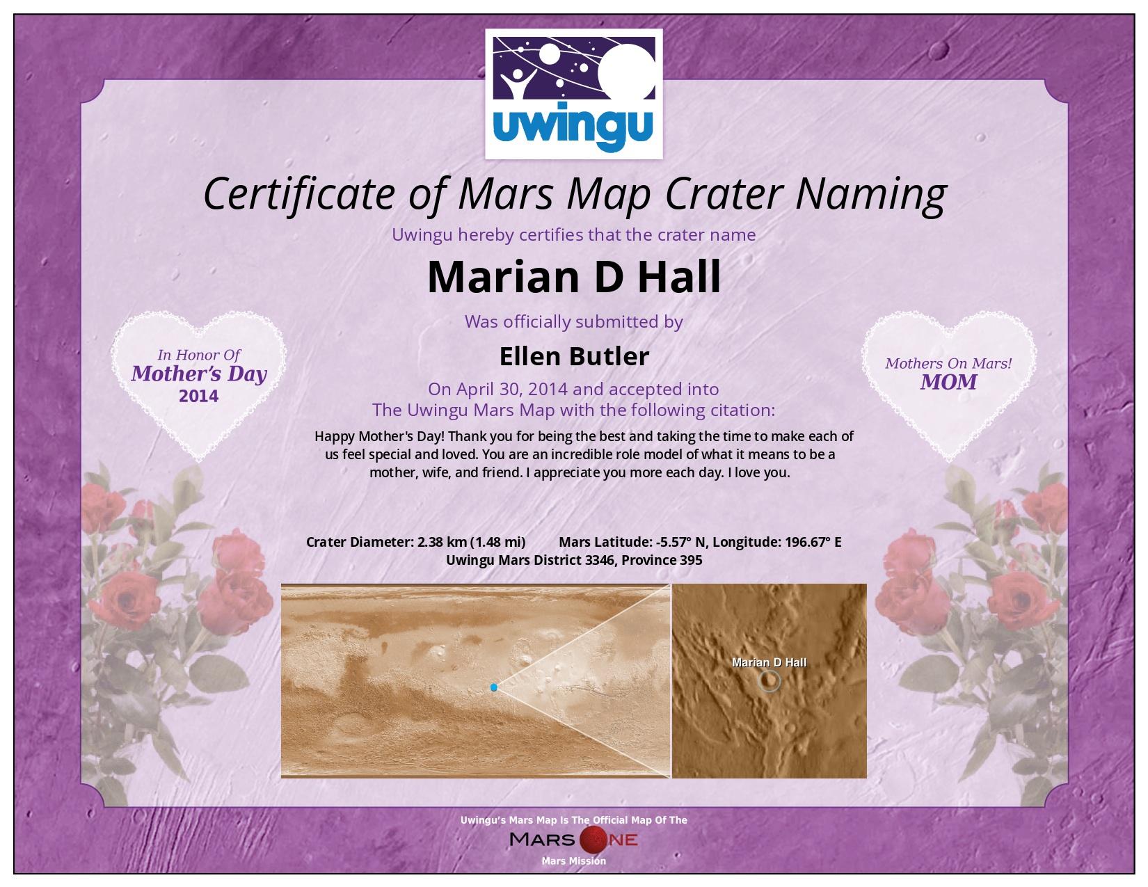 MOM Uwingu Certificate